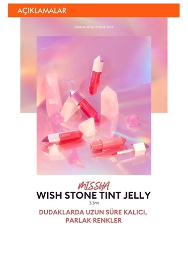 Missha Parlak Ve Dolgun Görünen Dudaklar Için  Uzun  Süre Etkili Tint Ruj Wish Stone Tint Jelly (Pk02) Renksiz